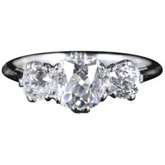 Antique Victorian Diamond Trilogy Ring Platinum, circa 1900