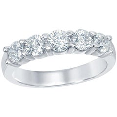 Five-Stone Ring 0.50 Carat Per Stone Wedding Band