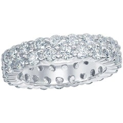Two-Row Diamond Eternity Band