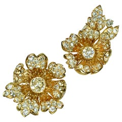 Pair of Oldcut Diamonds Clips, Marchak, 1960s, Similar Design from Book