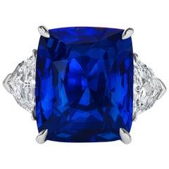 20.22 Carat No Heat Ceylon Sapphire Platinum Ring