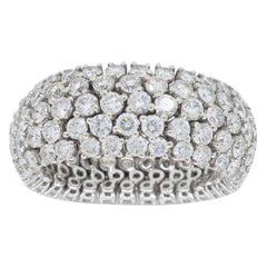 18 Karat White Gold 5.25 Carat Diamond Eternity Band