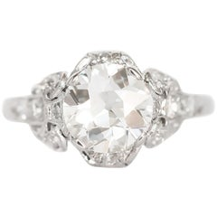 1.18 Carat Diamond Platinum Engagement Ring