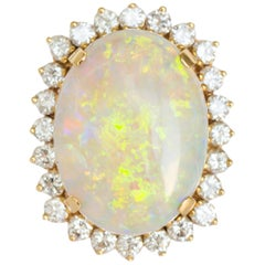 Opal and Diamond Cocktail Ring