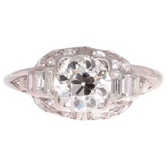 Art Deco Diamond Platinum Engagement Ring