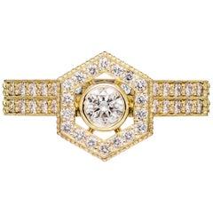 Zoe & Morgan Aretha and Vanita 18k Yellow Gold Diamond Wedding Ring Set