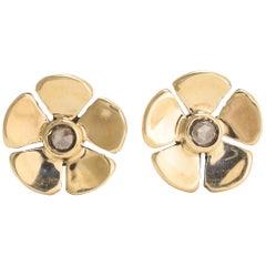 BL Bespoke Diamond Buttercup Stud Earrings