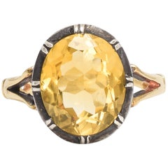 BL Bespoke Yellow Citrine Solar Ring