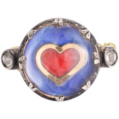 BL Bespoke Crystalized Heart Ring