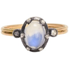 BL Bespoke Blue Moonstone Power Ring