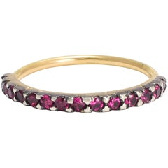BL Bespoke Ruby Half Hoop Stacking Ring