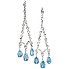 Tiffany & Co. Earrings with Aquamarine and Diamond