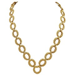 Van Cleef & Arpels Gold Link Necklace