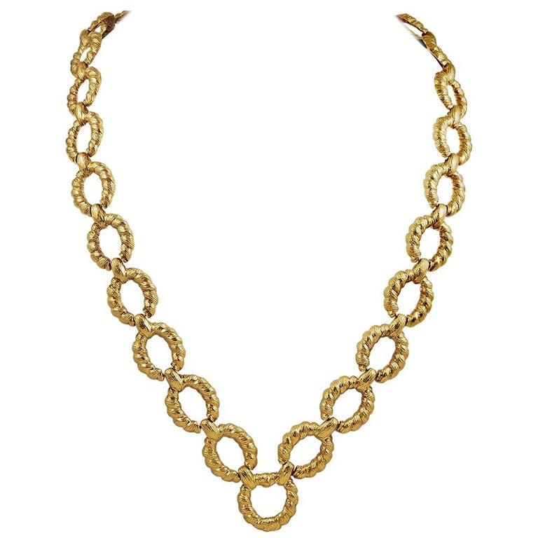 Van Cleef & Arpels Gold Link Necklace