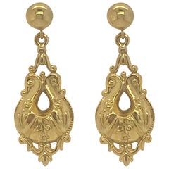 9 Karat Vintage Gold Drop Style Earrings