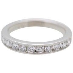 Tiffany & Co. Platinum and Diamond Wedding Band Ring