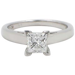 Leo Diamond Princess Cut 1.01 CT D VS1 Solitaire Engagement Ring 14K White Gold