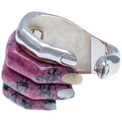Delfina Delettrez Rhodonite Silver Cuff Bracelet