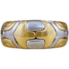 Bulgari Alveare Band 18 Carat Yellow Gold and Steel