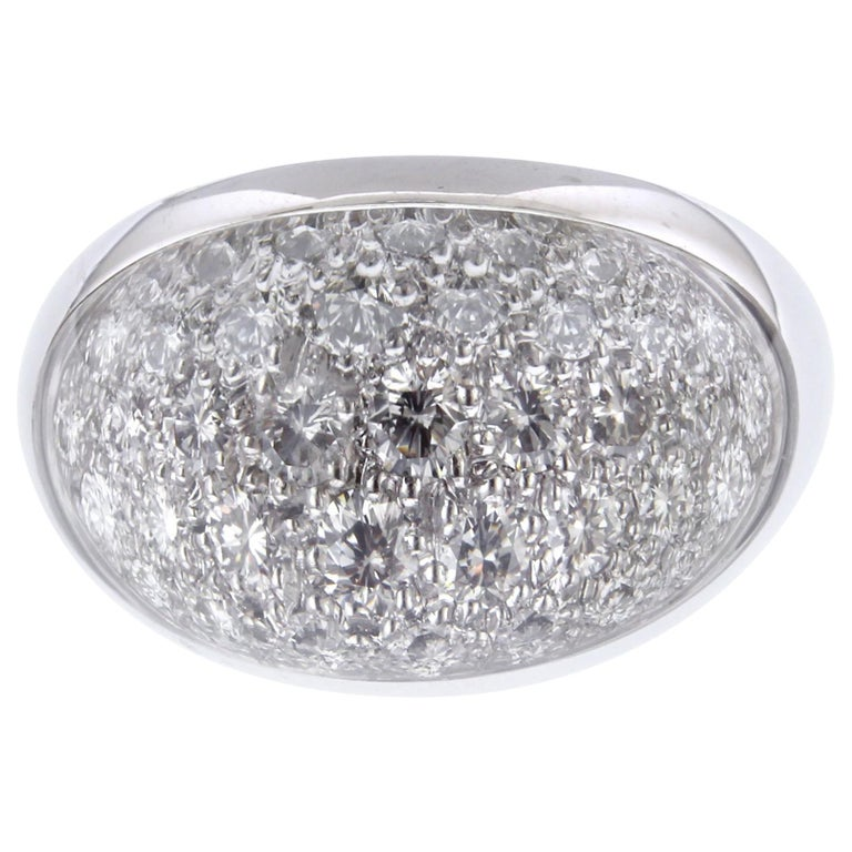 Cartier Myst De Cartier 18 Karat White Gold Rock Crystal Diamond Ring