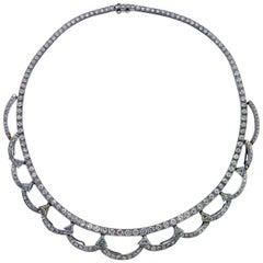 10.01 Carat Diamond and Platinum Necklace