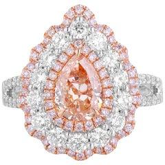 GIA Certified Fancy Brown Orange Diamond Ring, 2.23