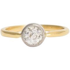 BL Bespoke 0.66 Carat Old European Cut Diamond Solitaire Ring