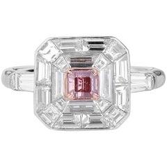 GIA Certified Fancy Intense Pink Diamond Ring, 2.13 Carat