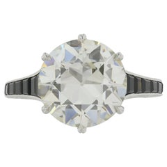 4.07 Carat Old European Diamond K VS1 Edwardian Ring