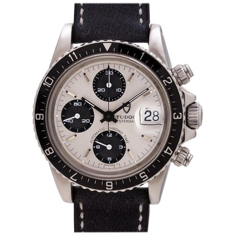 "Tudor Stainless Steel ""Big Block"" Oysterdate Chronograph self winding wristwatch"