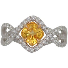 Frederic Sage 2.02 Carat Yellow Sapphire Diamond One of a Kind Ring