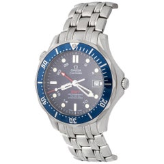 Omega Stainless Steel Seamaster Professional GMT Automatic Wristwatch