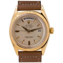 Rolex Yellow Gold Day Date self winding wristwatch Ref 1803, circa 1959