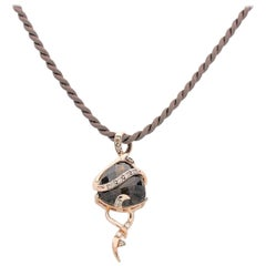 Le Vian Chocolate Diamond Pendant in Strawberry Rose Gold on Satin Cord Necklace