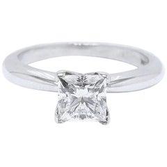 Celebration Diamond Engagement Ring Princess Cut 1.00 CT H VVS2 14KT White Gold