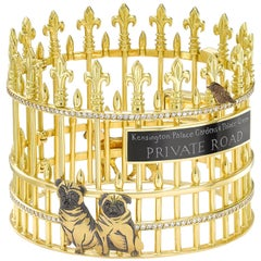 Yellow Gold and White Diamond Kensington Palace Gardens Bangle