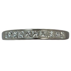 Platinum and VS 1.00 Carat Diamond Ladies Half Eternity Stack Band Ring