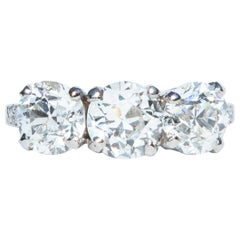 Art Deco Tiffany & Co. Diamond Three-Stone Ring