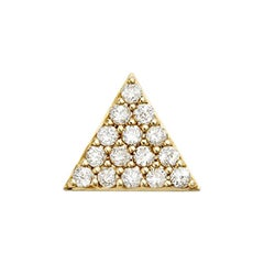 Zoe and Morgan Yellow Gold Pyramid of Diamonds Single Stud Earring