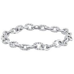 Platinum Diamond Link Bracelet