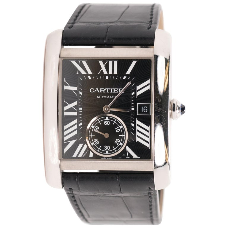 Cartier Stainless Steel Large Tank automatic Wristwatch