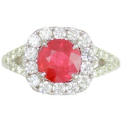 Frederic Sage 2.04 Carat Ruby and White Diamond One of a Kind Ring