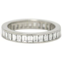 Tiffany & Co 2.5 Ct Diamond Eternity Band Baguette Platinum Wedding Anniversary