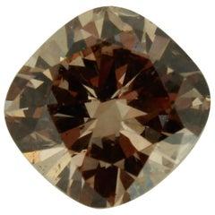 2.02 Carat Natural Fancy Dark Orange Brown Cushion Shape Diamond