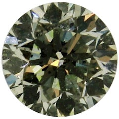 .50 Carat Natural Fancy Light Yellow Green Round Brilliant Diamond with GIA