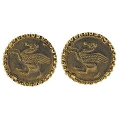 Lalaounis Greece Pegasus Gold Cufflinks