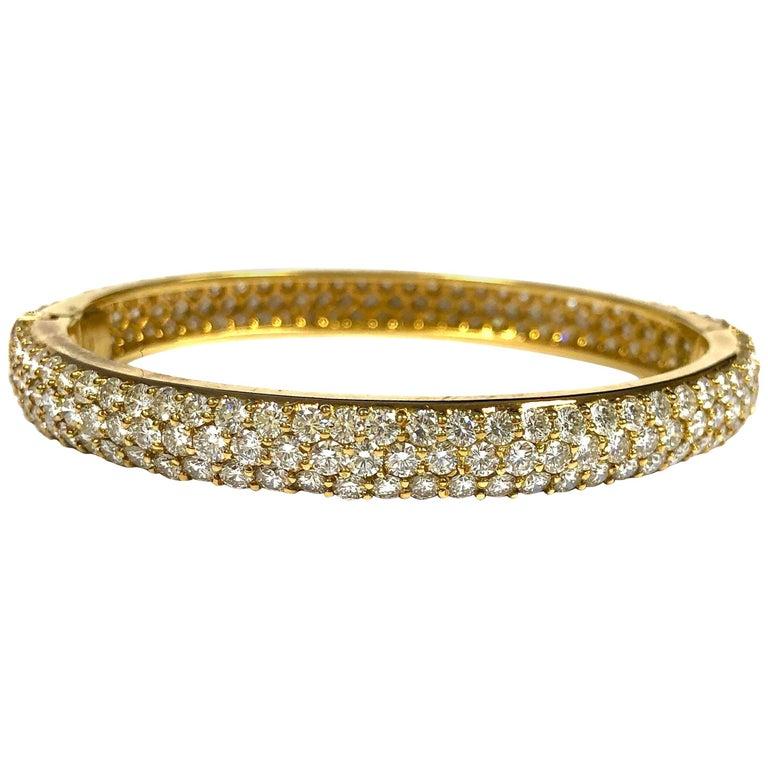 Hammerman Brothers 12 Carats of Diamonds Bombe Style Bangle Bracelet