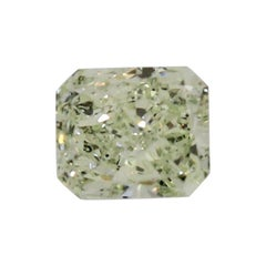 .43 Carat Natural Fancy Yellowish Green Radiant Cut Diamond with GIA Report