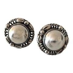 Georg Jensen Sterling Silver Earrings No 39B