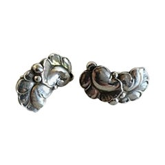 Georg Jensen Sterling Silver Ear Clips No 50A